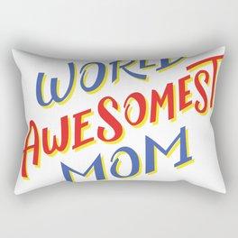 world awesomest mom  Rectangular Pillow