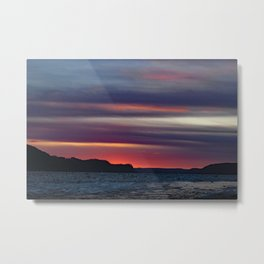 Sunrise over Log level. Pa. during the ice jam ! Metal Print