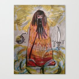 Glove/Bomb/Daggers / the 3 of Swords tarot Canvas Print