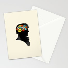 Sherlock Phrenology Stationery Cards