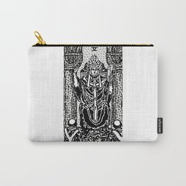 Modern Tarot Design - 5 The Hierophant Carry-All Pouch