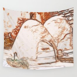 Adobe Ovens Wall Tapestry