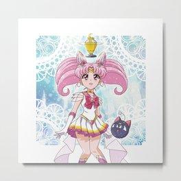 Super Sailor Chibi Moon Metal Print