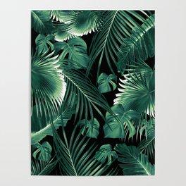 Tropical Jungle Leaves Dream #6 #tropical #decor #art #society6 Poster