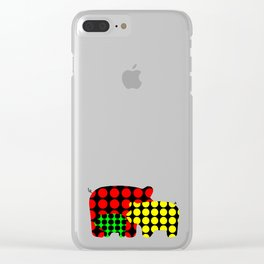 Pigs in dots Clear iPhone Case