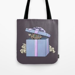 Giftbox Cat Tote Bag