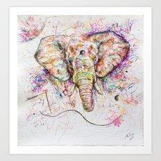 Elephant // Sananga Art Print