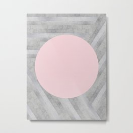 Gray and pink stone Metal Print
