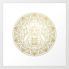 Anubis Mandala – Egypt Art Print