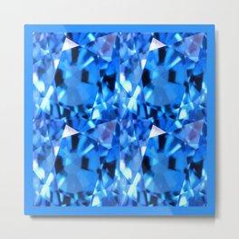 FACETED LONDON BLUE TOPAZ GEMSTONES Metal Print