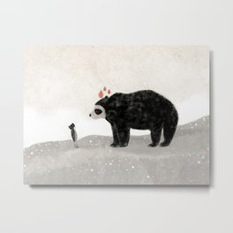 Aia and spectacled bear Metal Print