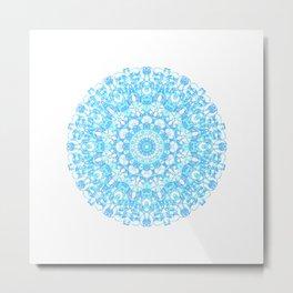 Mandala 12 / 1 eden spirit light blue turquoise Metal Print