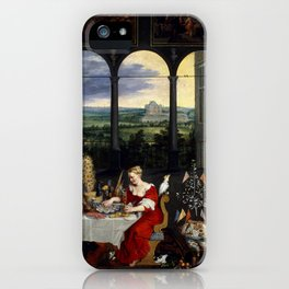 """Jan Brueghel the Elder """"The Senses of Hearing, Touch and Taste"""" iPhone Case"""