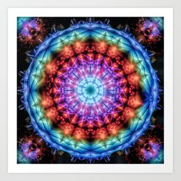 Plasmagoria - Kaleidoscopic Mandala Art Print