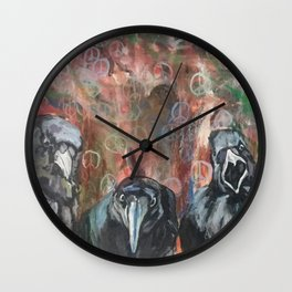 Caws for Peace Wall Clock