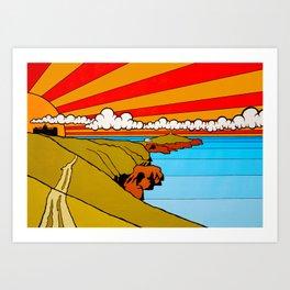 Newquay Headland Art Print