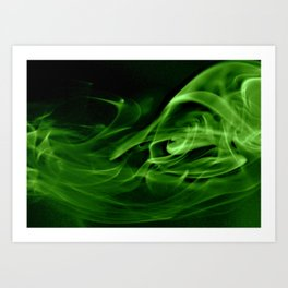 Emerald Swirly Art Print