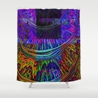 totem Shower Curtains featuring Totem by Amanda Moore