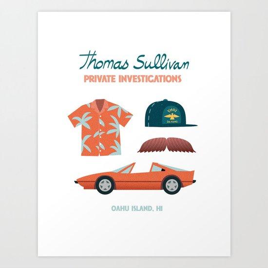 Thomas the Hawaiian PI 02  Art Print