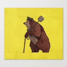 Worker Bear Canvas Print
