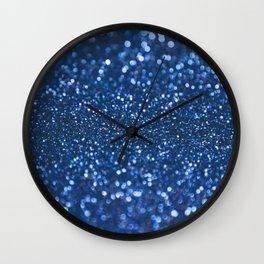 Blue Sparkle Pattern Wall Clock