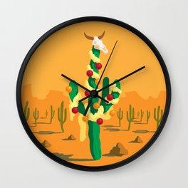 Merry Cactus Wall Clock