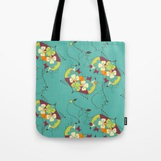 Flower hearts pattern Tote Bag