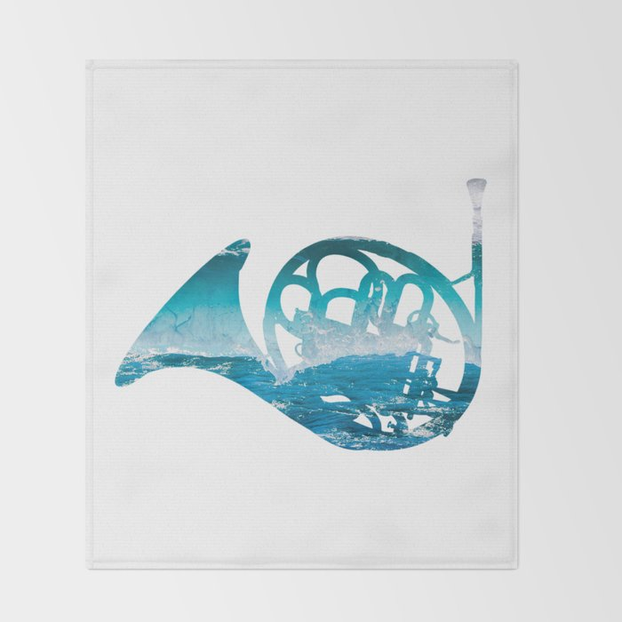 French Horn 2 Throw Blanket