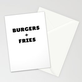 Burgers and Fries T-Shirt Stationery Cards