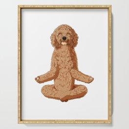 Meditate Cockapoo Dog Serving Tray