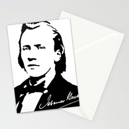 Johannes Brahms (1833 – 1897) in 1853 (2) Stationery Cards