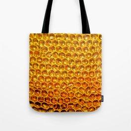 Yellow honey bees comb Tote Bag