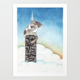 Miss Kitty Takes New York Art Print