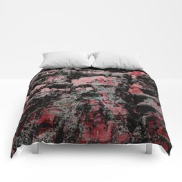 Red Stone Faces Comforters