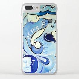 Reves Bleus (blue dreams) Clear iPhone Case