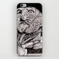 freddy krueger iPhone & iPod Skins featuring Freddy Krueger by Emz Illustration