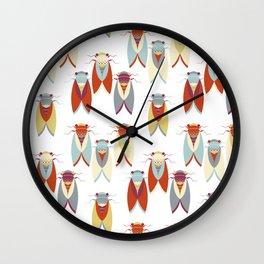 Colorful Cicadas pattern Wall Clock