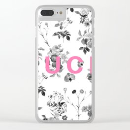 FUCK Floral Clear iPhone Case