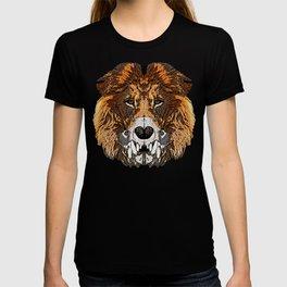 Lion half skull T-shirt