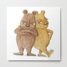 angry bears Metal Print