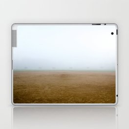Baseball Field on a Foggy Morning Laptop & iPad Skin