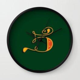 Alphabet Drop Caps Series- 5 Wall Clock