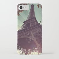 eiffel tower iPhone & iPod Cases featuring Eiffel Tower by Rhianna Power