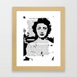 I Wish to be Alone Framed Art Print