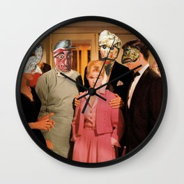 Mask Party Wall Clock