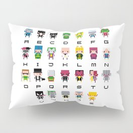 Pixel Supervillain Alphabet 2 Pillow Sham