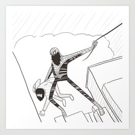 Spider-Beard Art Print