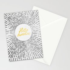 Hello Sunshine Silver Stationery Cards