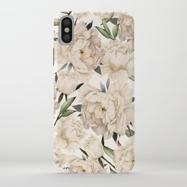 Peonies Pattern iPhone Case