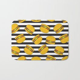 Burger Stripes By Everett Co Bath Mat
